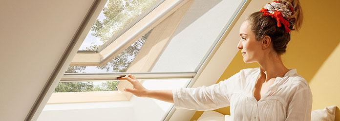 Moskitiery do okien dachowych
